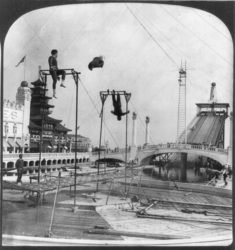 Trapeze performers, Dreamland, Coney Island Created / Published c1904.