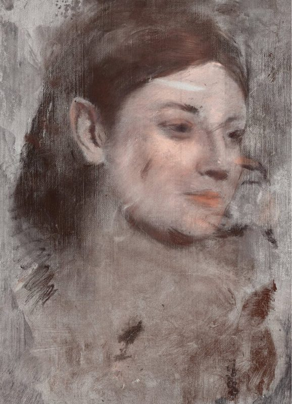 Reconstruction of Degas' hidden portrait. The image was created from the X-ray fluorescence microscopy elemental maps. (Australian Synchrotron and the National Gallery of Victoria)