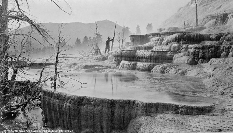 Mammoth Hot Springs in 1872 (Library of Congress)