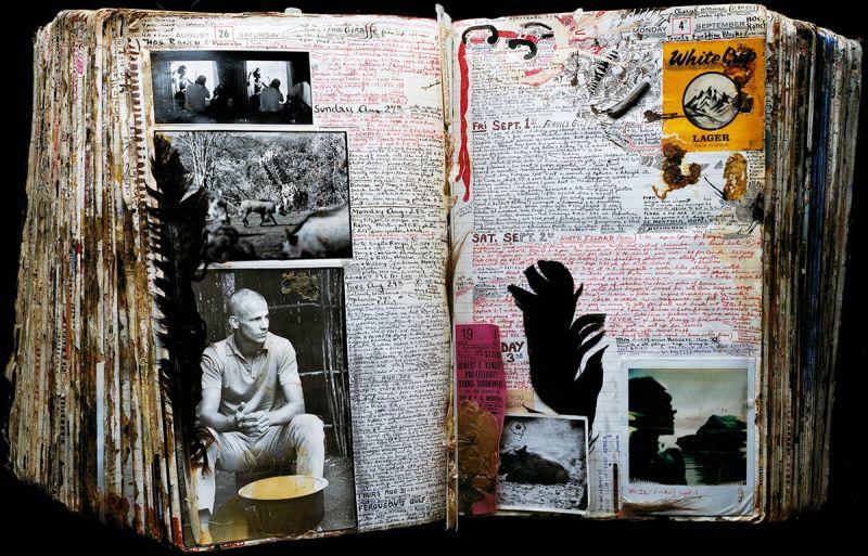 Diary Pages, Peter Beard, Kamiti Prison, Nairobi, Kenya, August 26 and September 4, 1978. (Peter Beard)