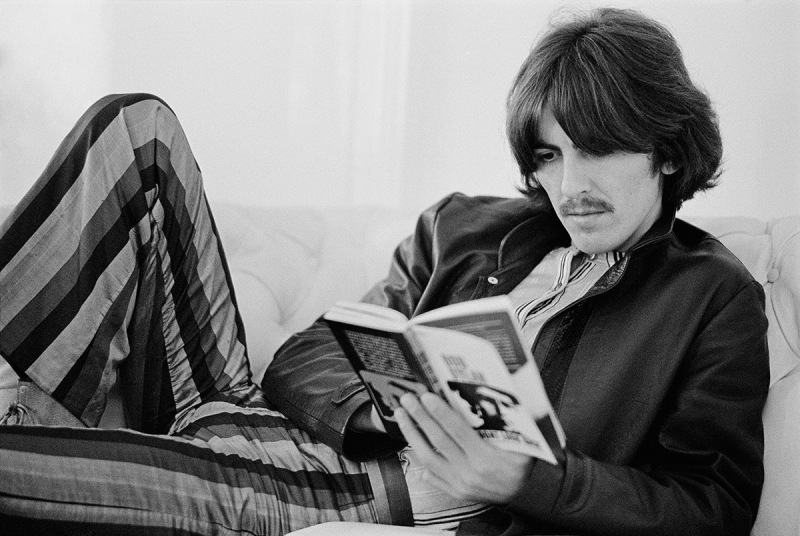 PIC BY BARON WOLMAN / CATERS NEWS - (PICTURED:George Harrison) - Legendary music photographer Baron Wolman has released a collection of iconic photographs in time for Woodstocks 47th anniversary. To mark the hippie festival, the rock photojournalist is showcasing a retrospective of his career from the Rolling Stone Magazines archive - including an unseen shot of Janis Joplin, taken in 1968. Other famous photographs on display in Mr Musichead Gallery include 300,000 Strong, which was taken during The Woodstock Festival, August 1969. SEE CATERS COPY