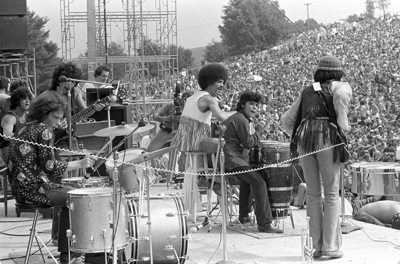 PIC BY BARON WOLMAN / CATERS NEWS - (PICTURED:Santana, Woodstock, Bethel, 1969) - Legendary music photographer Baron Wolman has released a collection of iconic photographs in time for Woodstocks 47th anniversary. To mark the hippie festival, the rock photojournalist is showcasing a retrospective of his career from the Rolling Stone Magazines archive - including an unseen shot of Janis Joplin, taken in 1968. Other famous photographs on display in Mr Musichead Gallery include 300,000 Strong, which was taken during The Woodstock Festival, August 1969. SEE CATERS COPY