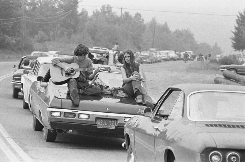 PIC BY BARON WOLMAN / CATERS NEWS - (PICTURED:On the Road to Woodstock) - Legendary music photographer Baron Wolman has released a collection of iconic photographs in time for Woodstocks 47th anniversary. To mark the hippie festival, the rock photojournalist is showcasing a retrospective of his career from the Rolling Stone Magazines archive - including an unseen shot of Janis Joplin, taken in 1968. Other famous photographs on display in Mr Musichead Gallery include 300,000 Strong, which was taken during The Woodstock Festival, August 1969. SEE CATERS COPY