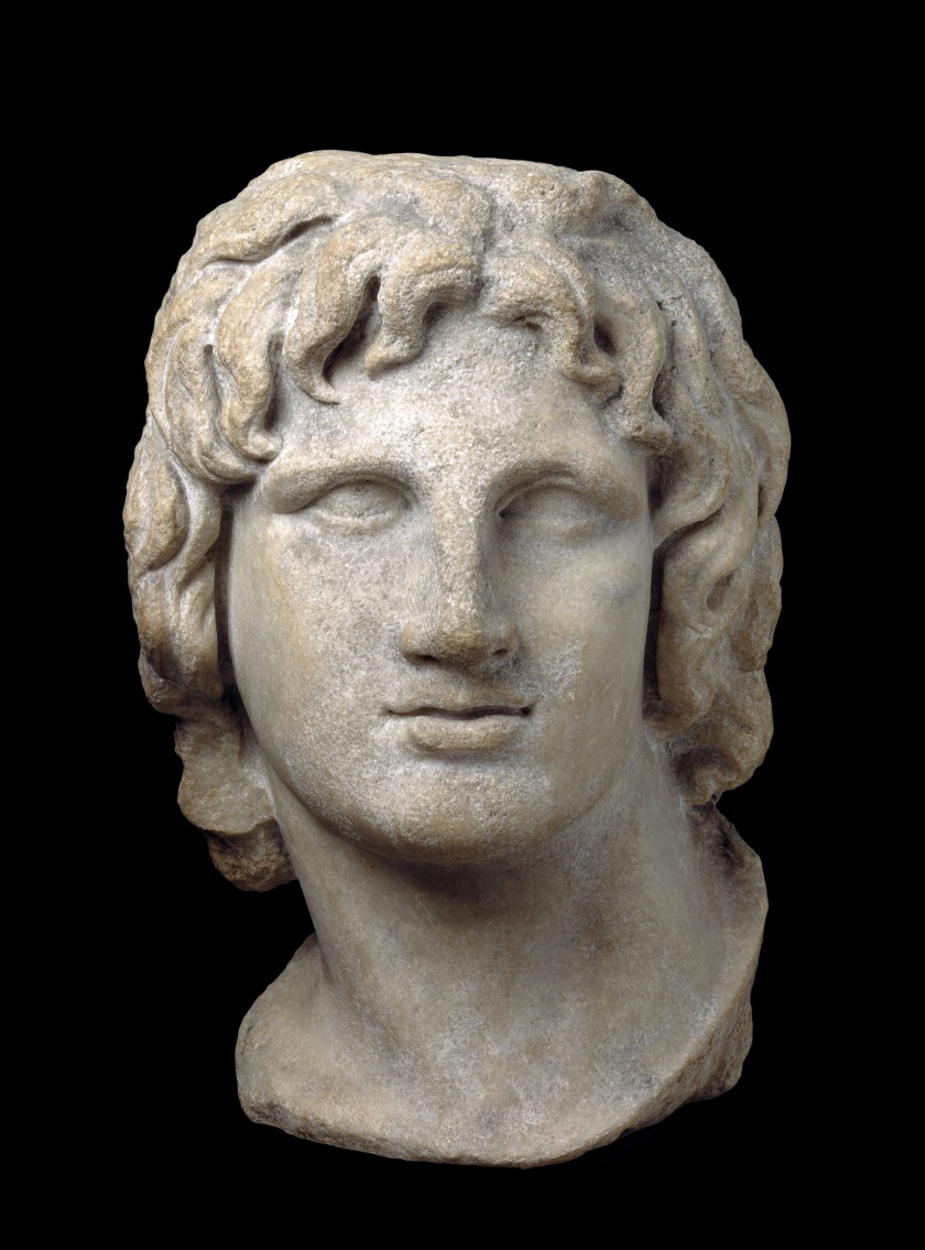 Youthful posthumous portrait of Alexander the Great 2nd-1st c. BC; from Alexandria (The Trustees of the British Museum)