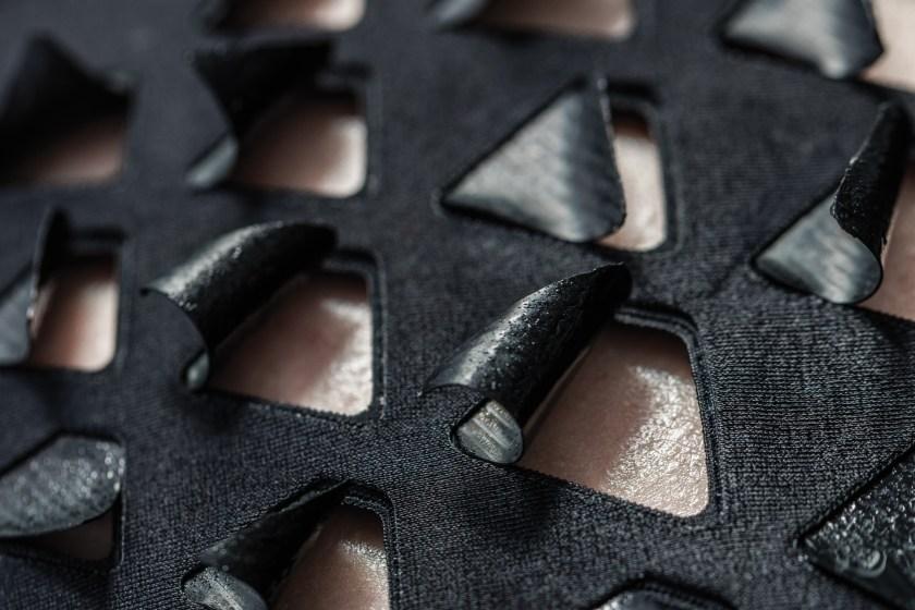 Macroscopic view of the bio- hybrid film that reacts to sweaty skin (bioLogic)