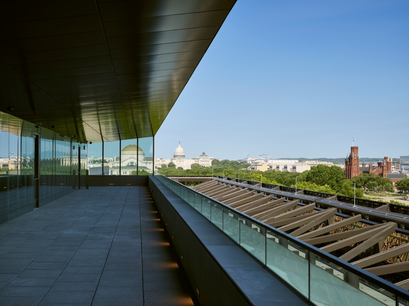 View from the upper levels of the National Museum of African American History and Culture Architectural Photrography (Alan Karchmer/NMAAHC)