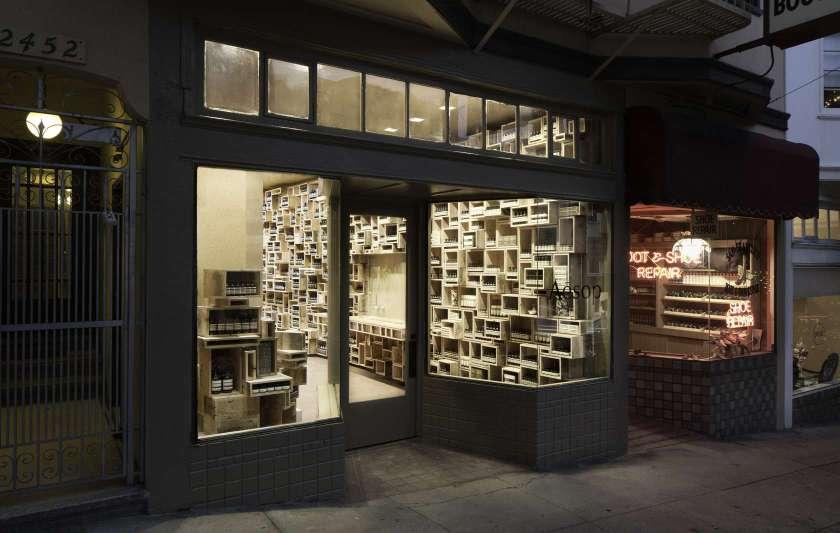Aesop's interior in San Fransisco, California (NADAAA, Inc.)