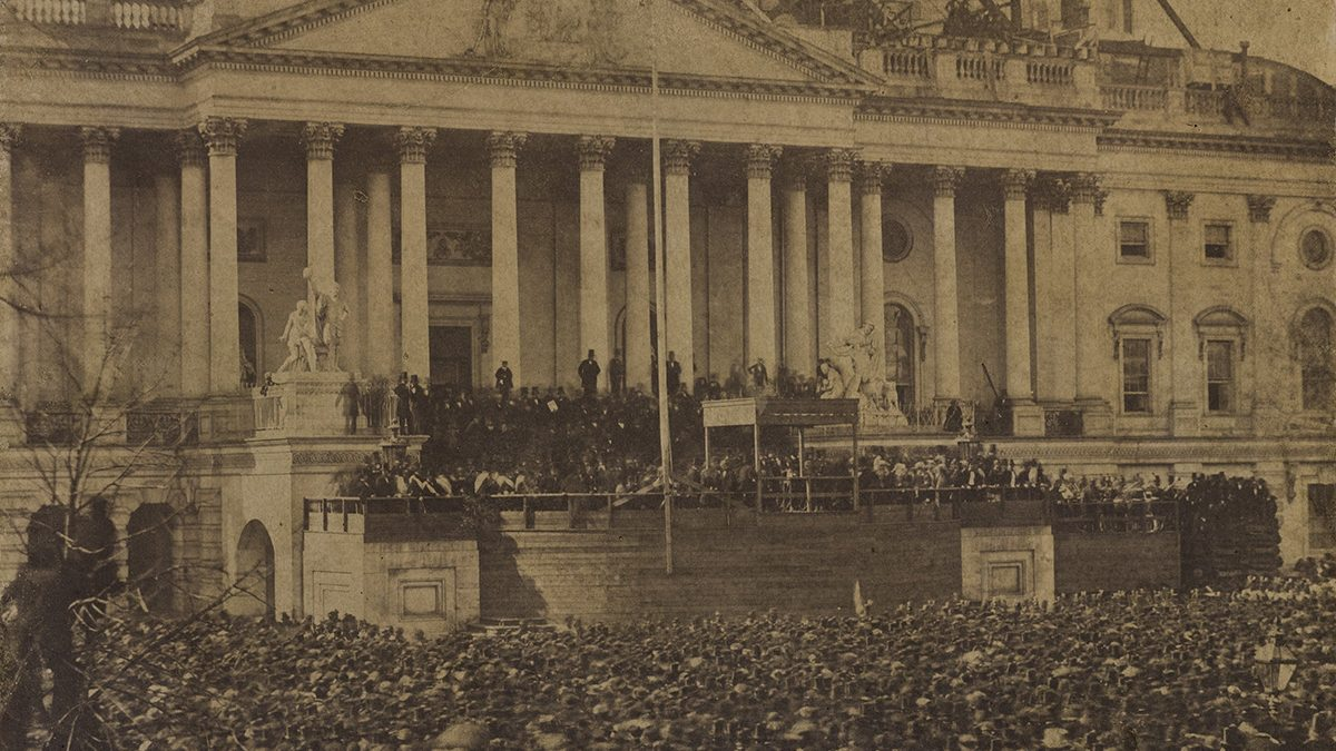Abraham Lincoln Inauguration Photo