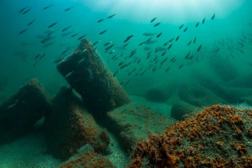 The ruins of antique Canopus were located at some 2km east of the western fringe of the Nile delta, in Aboukir Bay. (Franck Goddio / Hilti Foundation)