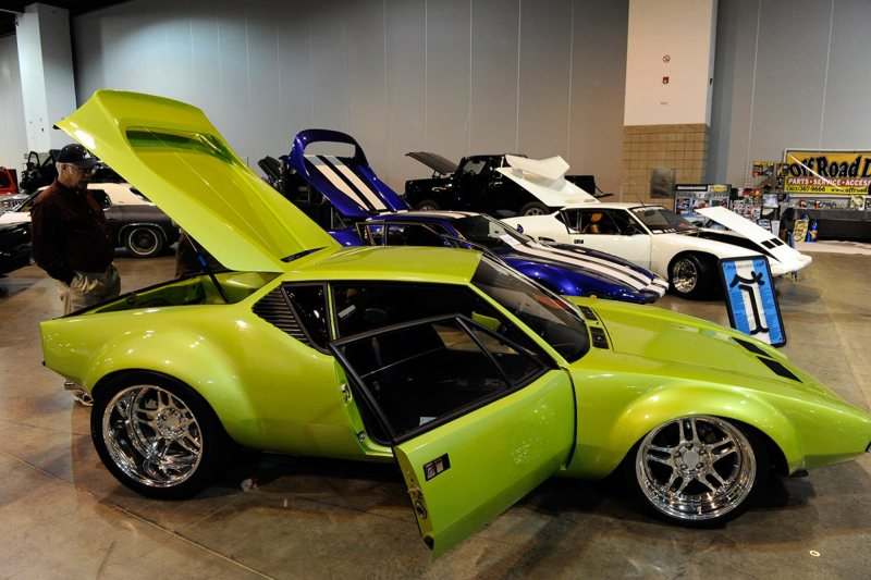 """A 1972 DeTomaso Pantera on display at the 15th annual Rocky Mountain Rod and Custom Car Show at the Colorado Convention Center Friday afternoon. The show features over 500 cars, trucks and motorcycles from around the nation that are competing for a $5000 """"Creme de la Chrome Award,"""" a first for the show. The show runs through this Sunday at the Convention Center. Andy Cross, The Denver Post (Photo By Andy Cross/The Denver Post via Getty Images)"""