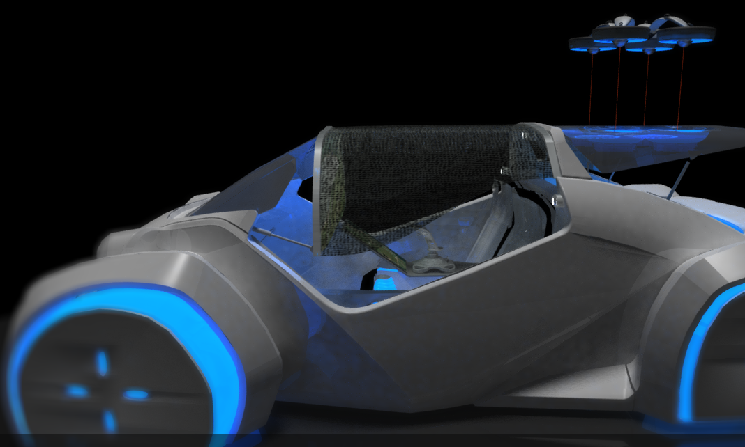 This 3-D Printed Concept Car Features Drone Technology