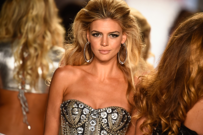 Model Kelly Rohrbach walks the runway at the Beach Bunny Featuring The Blonds show during Mercedes-Benz Fashion Week Swim 2015 at Cabana Grande at The Raleigh on July 18, 2014 in Miami, Florida. (Frazer Harrison/Getty Images for Beach Bunny)