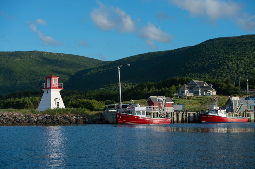 Fishing port of Pleasant Bay with lighthouse along the west coast of Cape Breton Island, Nova Scotia, Canada. (Wolfgang Kaehler/LightRocket via Getty Images)
