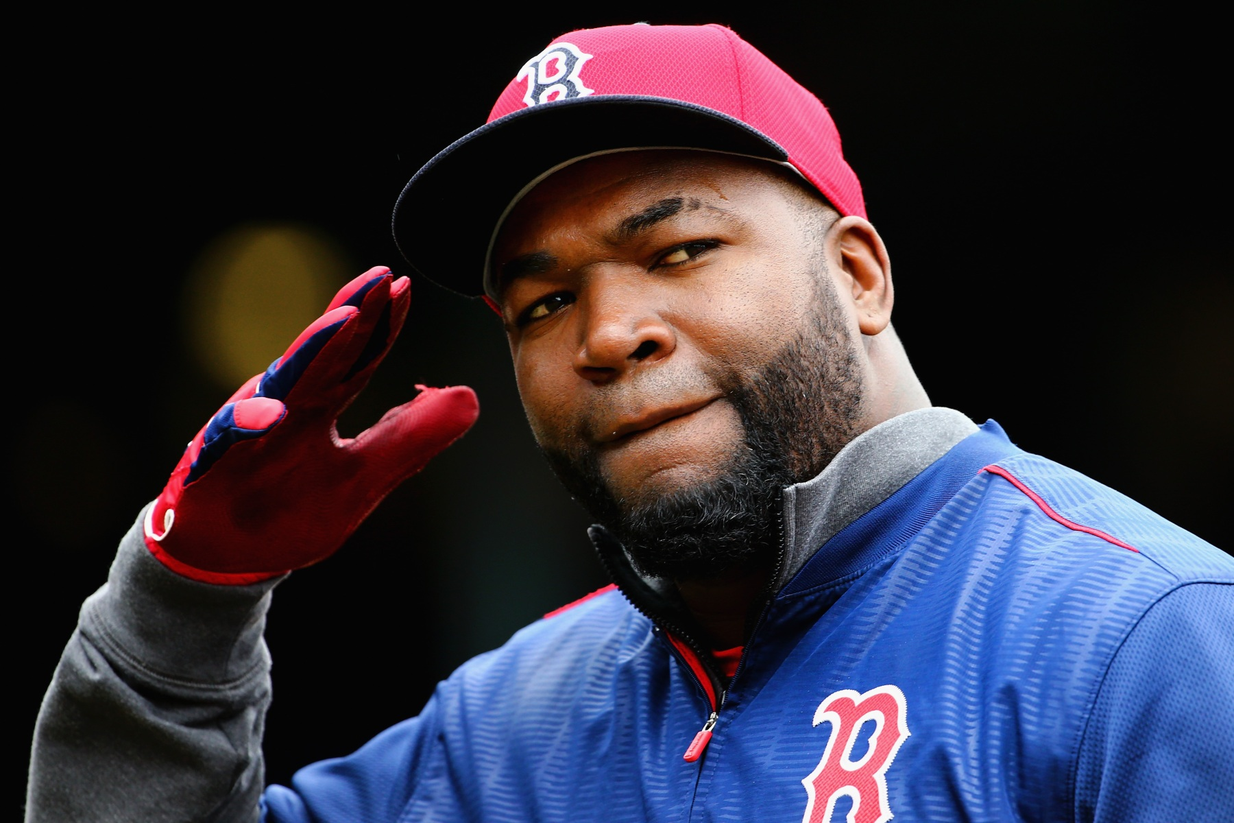 David Ortiz #34 of the Boston Red Sox enters the dugout after batting practice before the Red Sox home opener against the Baltimore Orioles at Fenway Park on April 11, 2016 in Boston, Massachusetts.  (Maddie Meyer/Getty Images)