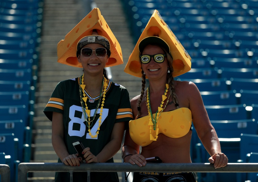 JACKSONVILLE, FL - SEPTEMBER 11: Green Bay Packers fans during the game against the Jacksonville Jaguars at EverBank Field on September 11, 2016 in Jacksonville, Florida. (Photo by Mike Ehrmann/Getty Images)