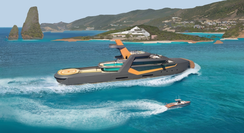 TIME superyacht (Courtesy of Henry Ward Design and BMT Nigel Gee)