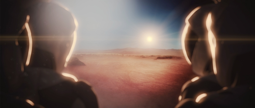 Concept rendering showing the crew inside of the ITS once on Mars (Space X)