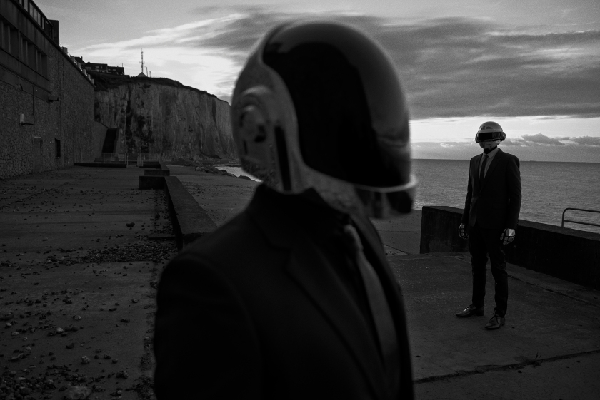 Daft Punk, Ault, France, 2013 M Le Monde (Courtesy of Peter Lindbergh, Paris / Gagosian Gallery)