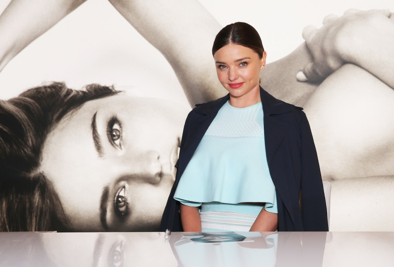 SYDNEY, AUSTRALIA - JUNE 27: Miranda Kerr poses before she greets fans at Westfield,Sydney on June 27, 2016 in Sydney, Australia. (Photo by Don Arnold/WireImage)