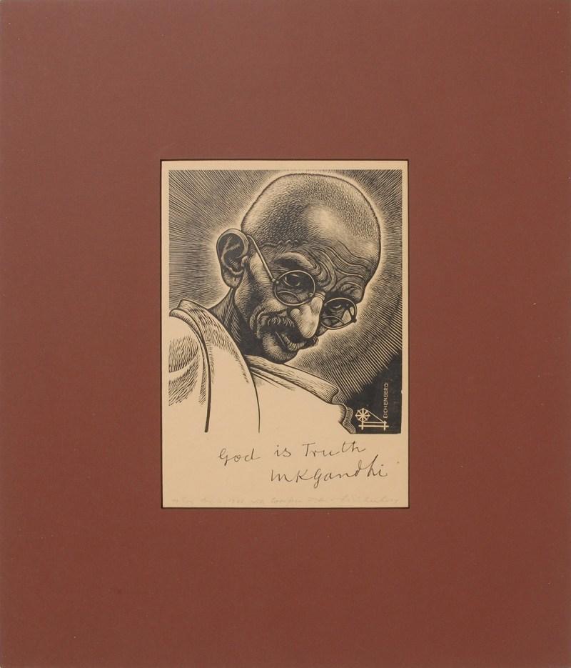 Ghandi Autograph