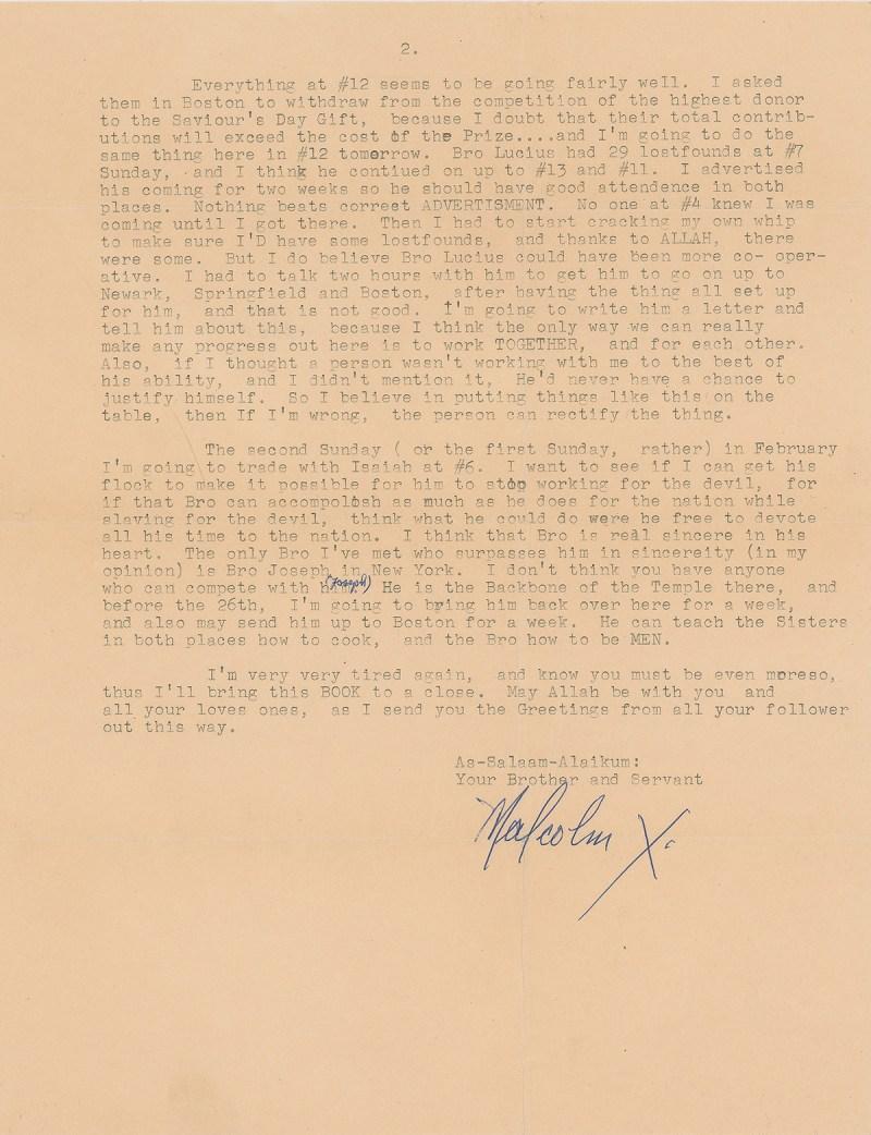 Malcolm X Signature