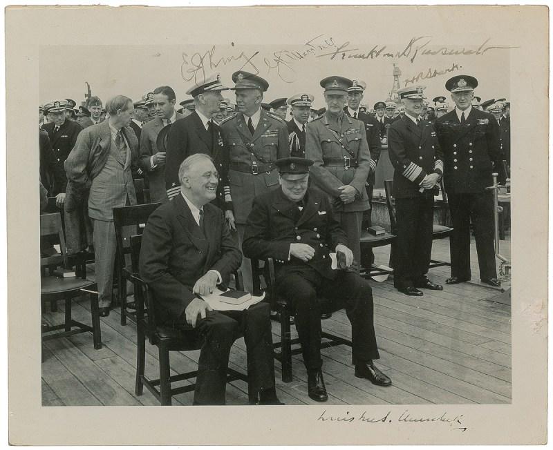 FDR and Churchill Autographs