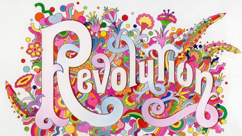The Beatles Illustrated Lyrics, 'Revolution' 1968 by Alan Aldridge (V&A)
