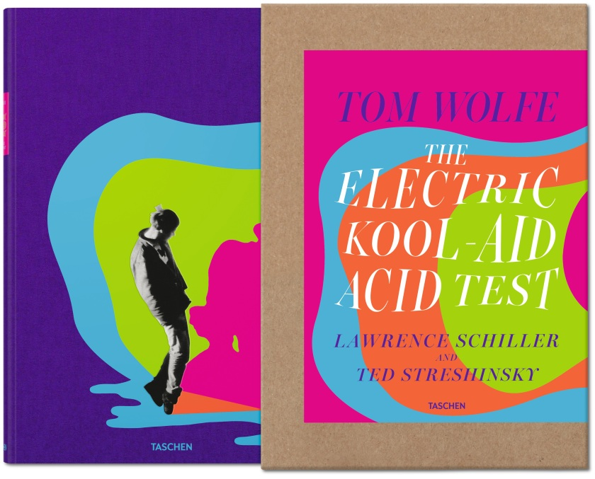Cover of The Collector's Edition of The Electic Kool-Aid Acid Test printed in a hardcover with a slipcase (Taschen)