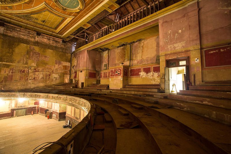 LONDON, ENGLAND - MARCH 31: A general view of the theatre of Alexandra Palace before a new phase of work commences as part of a regeneration plan at Alexandra Palace on March 31, 2014 in London, England. (Photo by Tim P. Whitby/Getty Images)