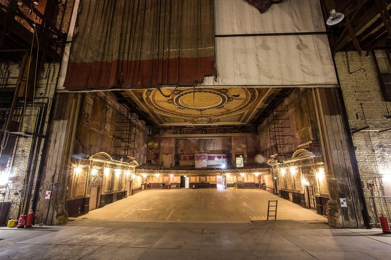 LONDON, ENGLAND - MARCH 31: A general view of the theatre from the stage of Alexandra Palace before a new phase of work commences as part of a regeneration plan at Alexandra Palace on March 31, 2014 in London, England. (Photo by Tim P. Whitby/Getty Images)