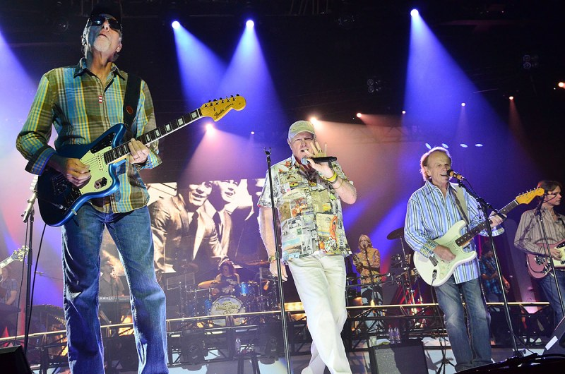 BETHLEHEM, PA - MAY 17: (L-R) David Marks, Mike Love and Al Jardine of the Beach Boys perform live in concert during The Beach Boys 50th Anniversary Reunion Tour at Sands Bethlehem Event Center on May 17, 2012 in Bethlehem, Pennsylvania. (Photo by Lisa Lake/FilmMagic)