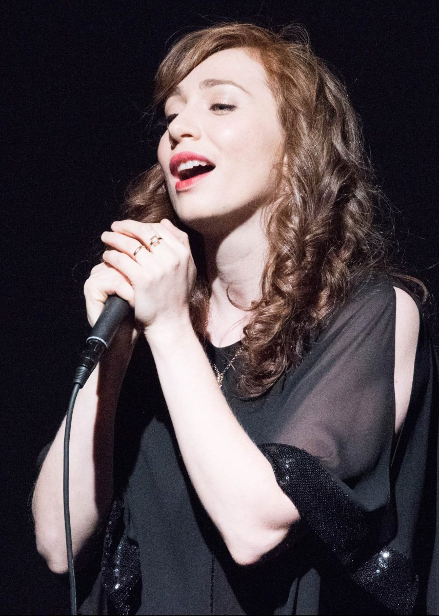 WEST HOLLYWOOD, CA - MAY 18:  Singer/Songwriter Regina Spektor performs at the 10th Annual Global Women's Rights Awards at Pacific Design Center on May 18, 2015 in West Hollywood, California.  (Photo by Earl Gibson III/WireImage)