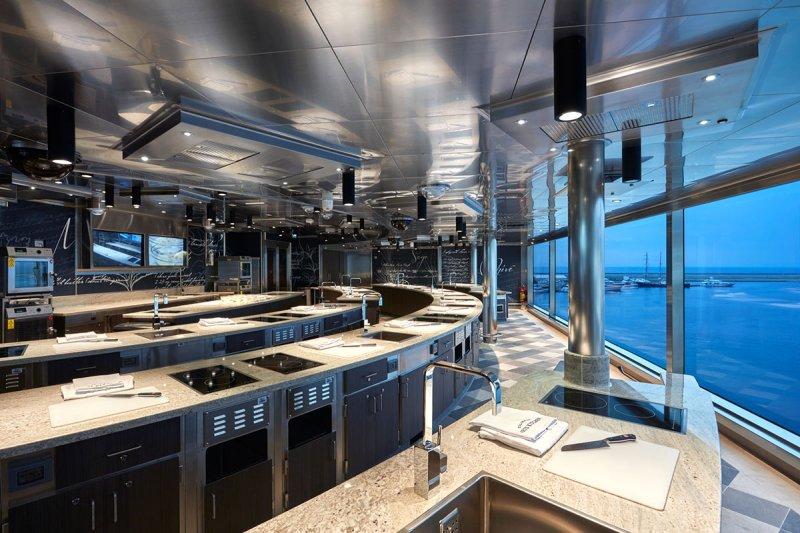 Culinary arts kitchen (Norwegian Cruise Line)