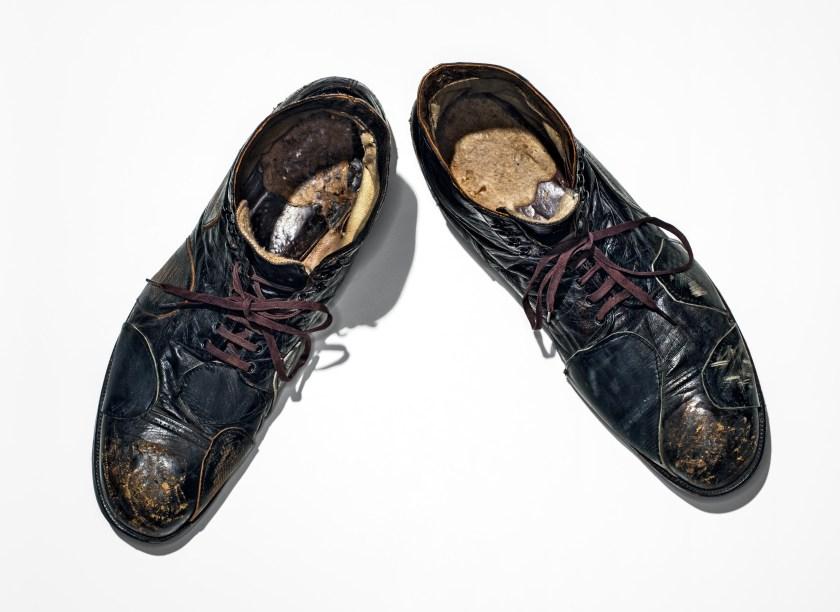Charlie Chaplin's shoes, worn in City Lights, 1931. (Henry Leutwyler)
