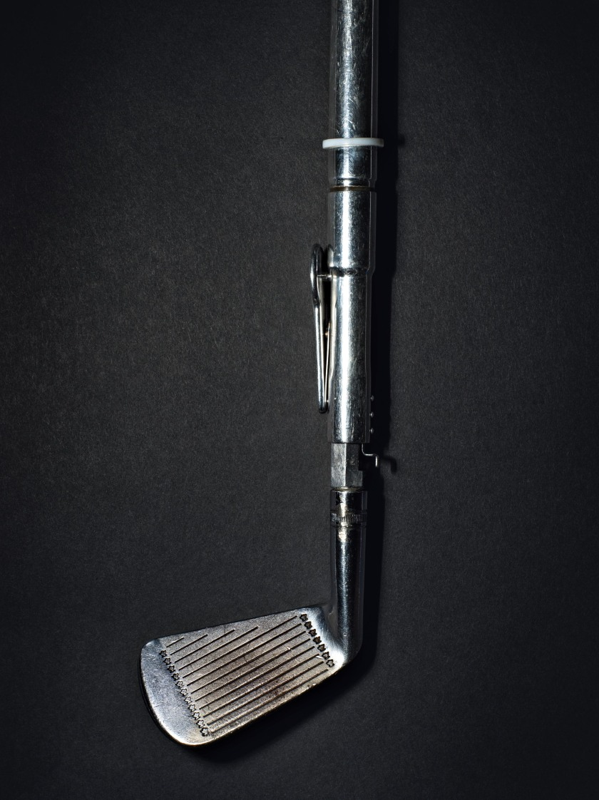 American astronaut and Apollo 14 crew member Alan Shepard's golf club. On February 6, 1971, he used it to play golf on the moon just before his to return to Earth. (Henry Leutwyler)