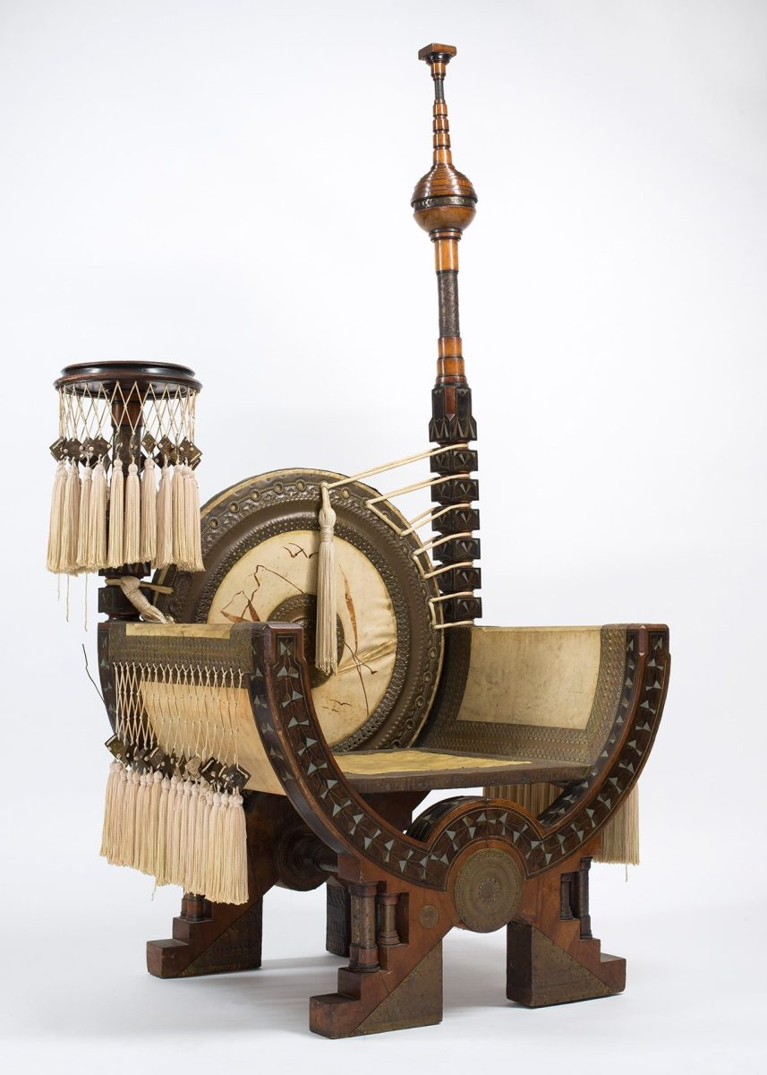 1898 Throne by Carlo Bugatti (Courtesy of The Petersen Automotive Museum)