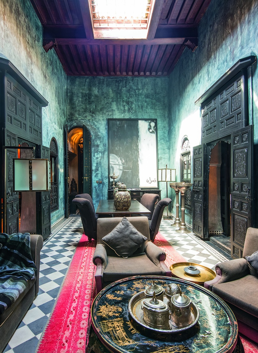 The Blue Suite at Dar Darma in Marrakech, Morrocco (EightyFourRooms/teNeues)