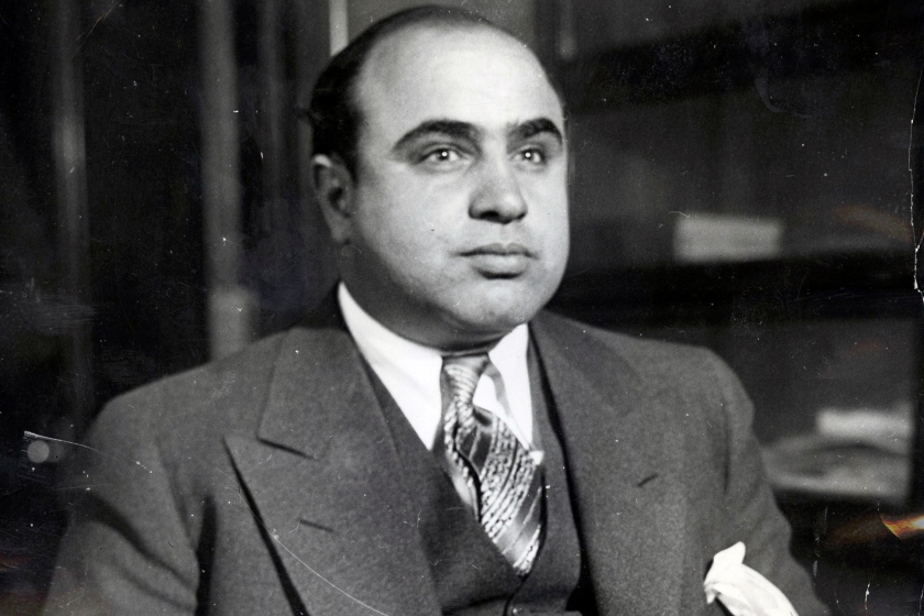 Al Capone, photographed in 1930 (Wikimedia Commons)