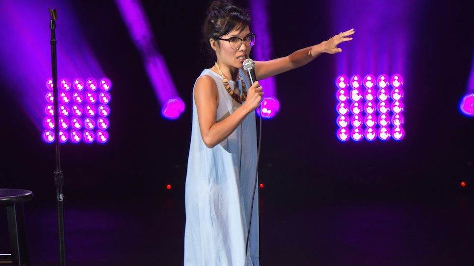 IRVINE, CA - OCTOBER 01:  Comedian Ali Wong performs at Funny Or Die's Oddball Comedy and Curiousity Festival 2016 at Irvine Meadows Amphitheatre on October 1, 2016 in Irvine, California.  (Photo by Tara Ziemba/Getty Images)