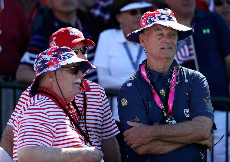 CHASKA, MN - OCTOBER 02: Actors Brian Doyle Murray and Bill Murray attend singles matches of the 2016 Ryder Cup at Hazeltine National Golf Club on October 2, 2016 in Chaska, Minnesota. (Photo by David Cannon/Getty Images)