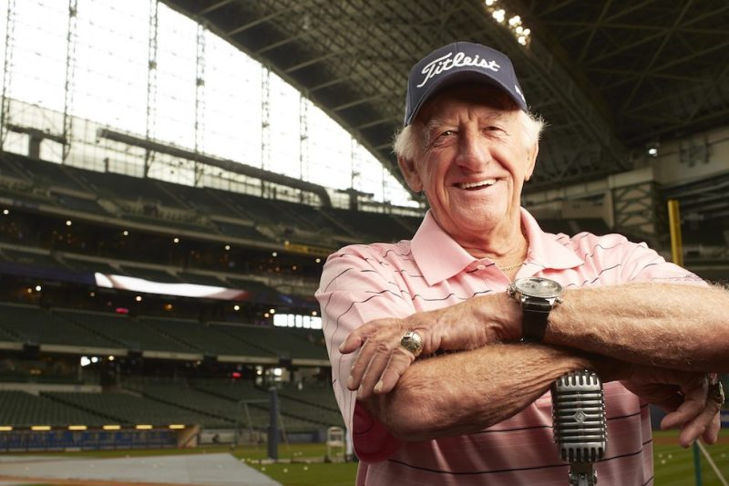 Baseball: Closeup portrait of Milwaukee Brewers radio announcer Bob Uecker posing during photo shoot at Miller Park. Milwaukee, WI 6/22/2013 CREDIT: Todd Rosenberg (Photo by Todd Rosenberg /Sports Illustrated/Getty Images) (Set Number: X156688 TK1 R1 F21 )