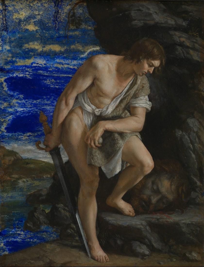 'David contemplating the Head of Goliath' by Orazio Gentileschi (Wikimedia Commons)