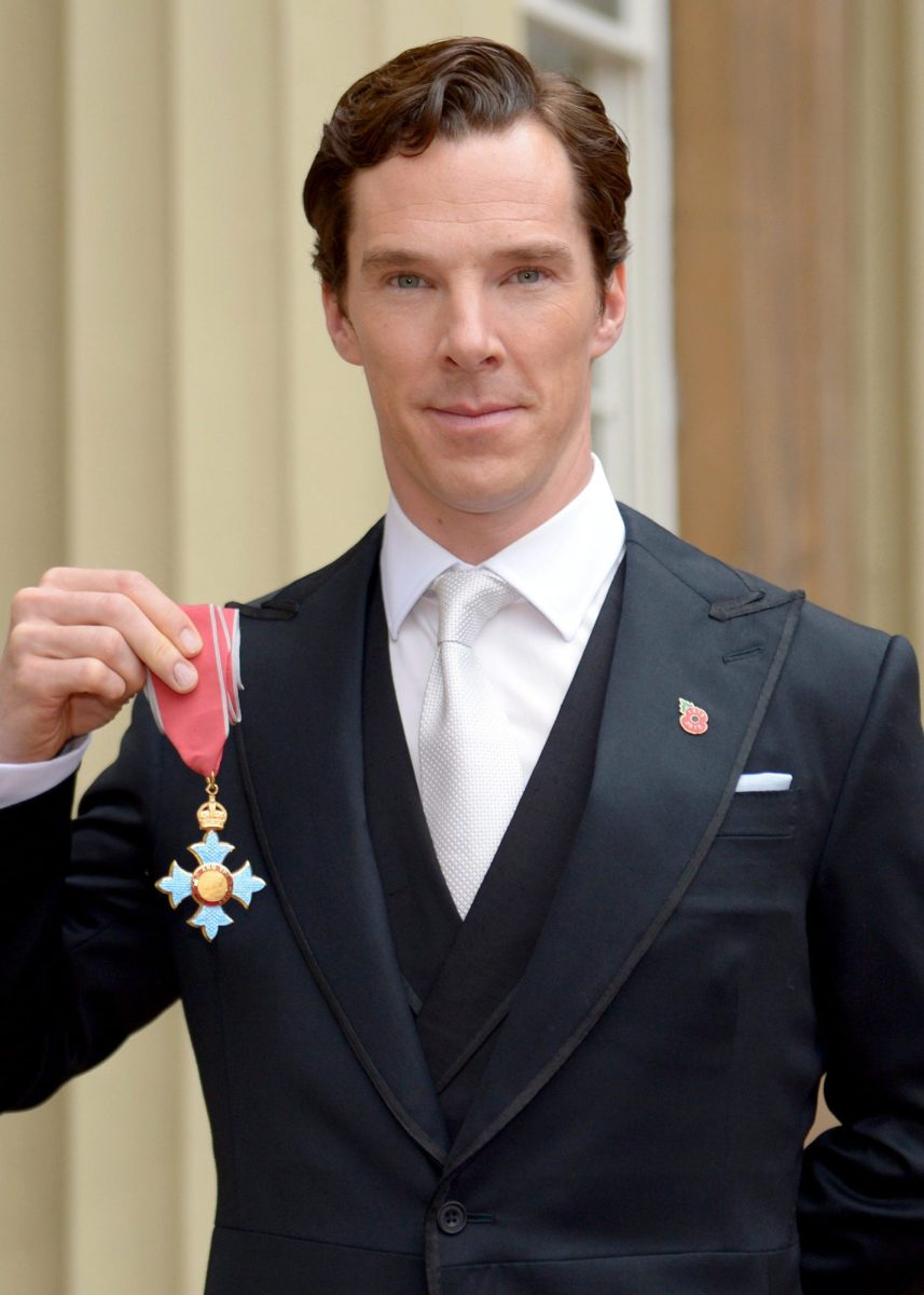 Actor Benedict Cumberbatch after receiving the CBE (Commander of the Order of the British Empire) from Queen Elizabeth II for services to the performing arts and to charity during an Investiture Ceremony at Buckingham Palace on November 10, 2015 in London, England.  (Photo by Anthony Devlin - WPA Pool / Getty Images)