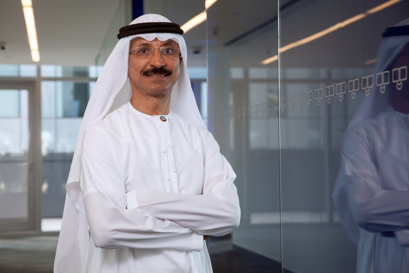 Sultan Ahmed Bin Sulayem, chief executive officer of DP World Ltd., poses for a photograph following a Bloomberg Television interview in Dubai, United Arab Emirates, on Sunday, May 1, 2016. (Razan Alzayani/Bloomberg via Getty Images)