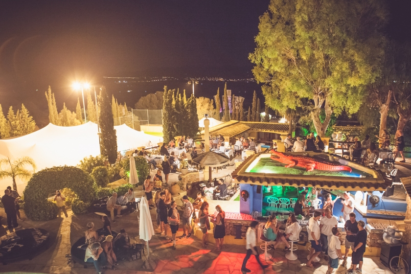 Overhead shot of the outside areas (Luke Dyson for Ibiza Rocks Group)