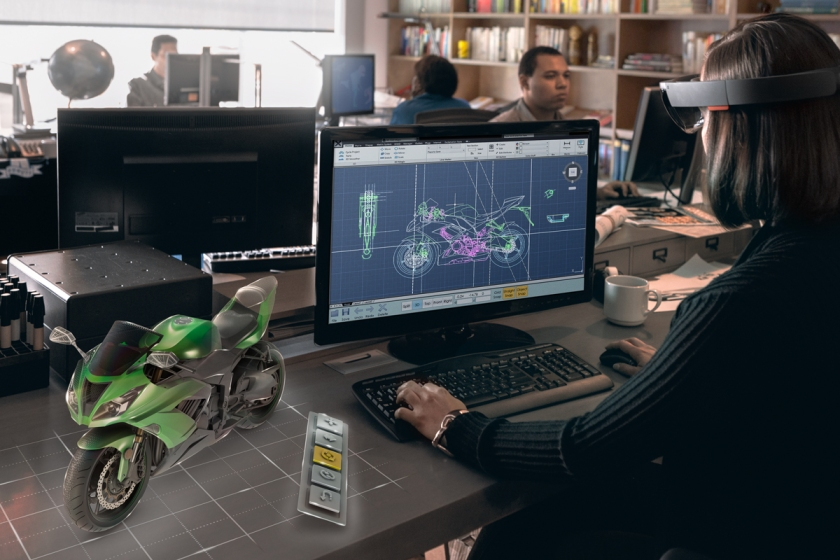Microsoft has launched its HoloLens mixed-reality goggles in a further six markets this month, following the device's initial debut across the US and Canada. (Courtesy Microsoft)