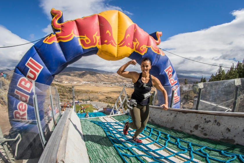 A competitor makes her way up the hill at Red Bull 400, in Park City, UT, USA on 24 September, 2016. (David Martínez Moreno / Red Bull Content Pool)