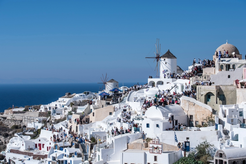 Overview of the Red Bull Art of Motion venue on Santorini Island, Greece on October 1, 2016. (Predrag Vuckovic/Red Bull Content Pool)
