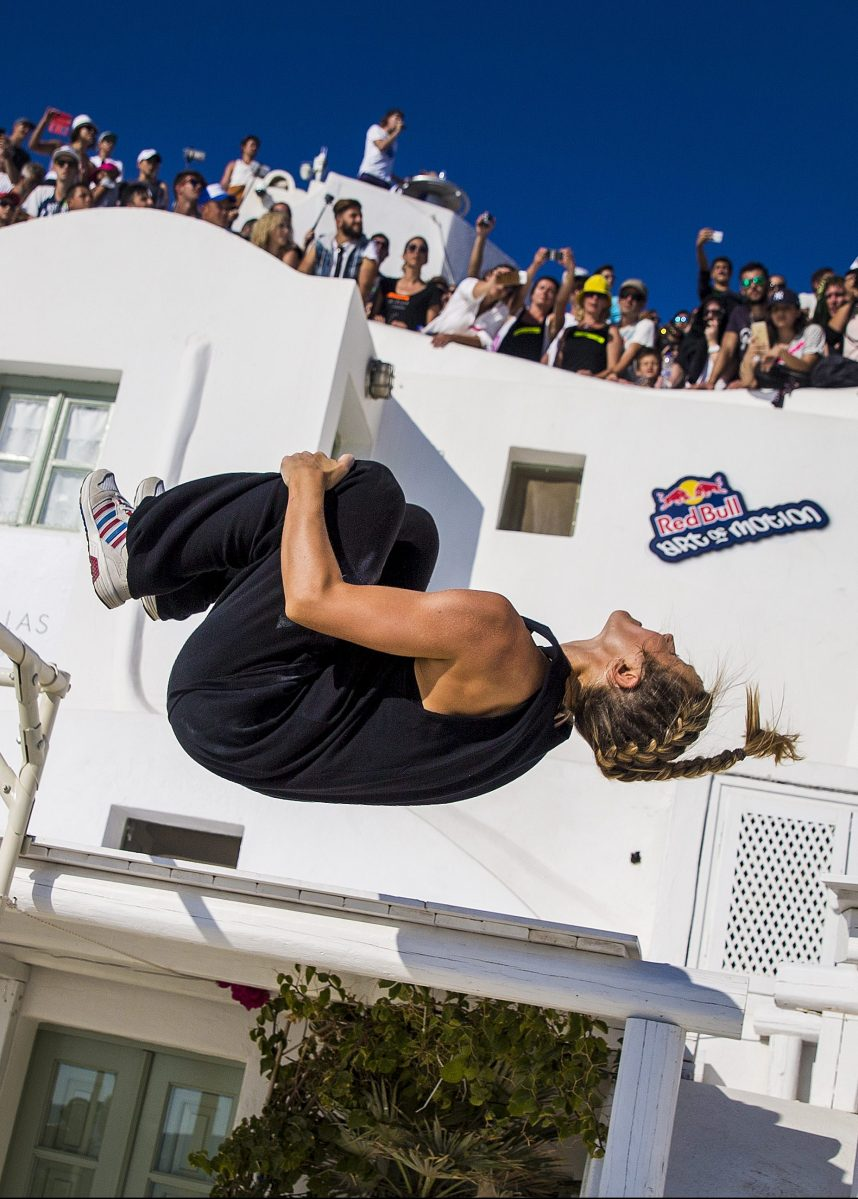 Lynn Yung of Luxembourg competes during Red Bull Art of Motion 2016 on Santorini island, Greece on October 1, 2016. (Predrag Vuckovic/Red Bull Content Pool)