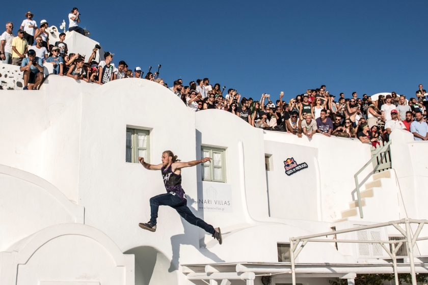Bart Van Der Linden of Netherland performs during the finals at the Red Bull Art of Motion on Santorini Island, Greece on October 1, 2016. (Predrag Vuckovic/Red Bull Content Pool)
